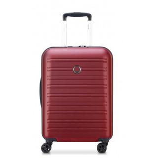 Delsey Segur 2.0 Suitecase Trolley Cabin Slim 4 Wheels 55 cm Red