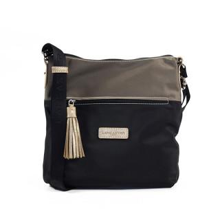 Lancaster Basic Pompon Shoulder Bag 514-37 Black Tach