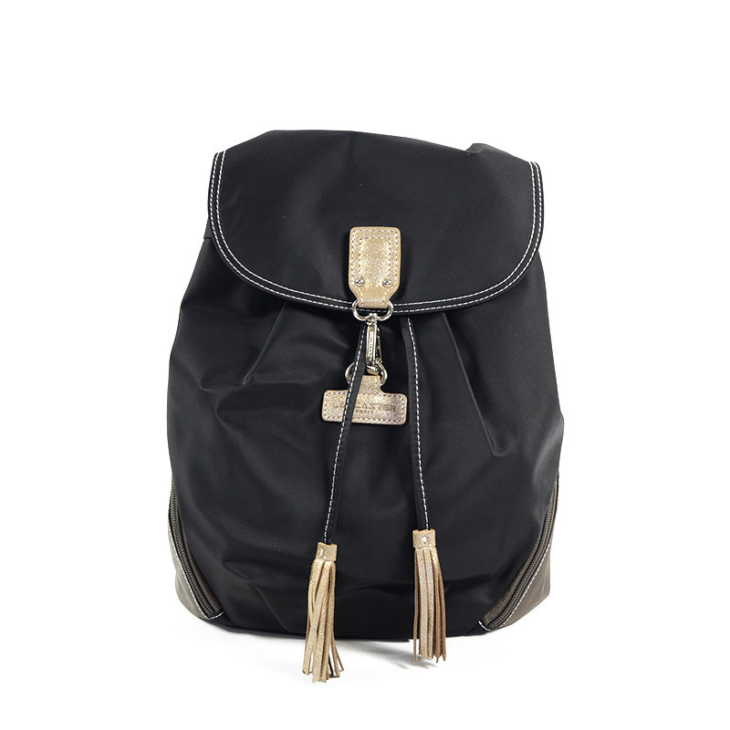 Lancaster Basic Pompon Backpack 514-42 Black Tach