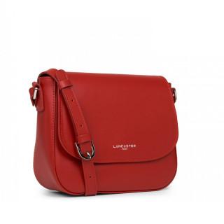 Lancaster Smooth Shoulder Bag 437-15 Red