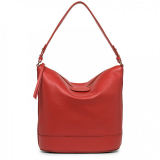 Lancaster Dune Bucket Bag Worn Shoulder 529-39 Red