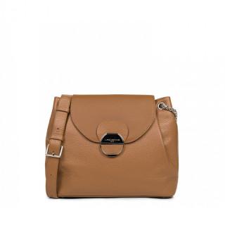 Lancaster Foulonne Pia Large Shoulder Bag 547-64 Camel