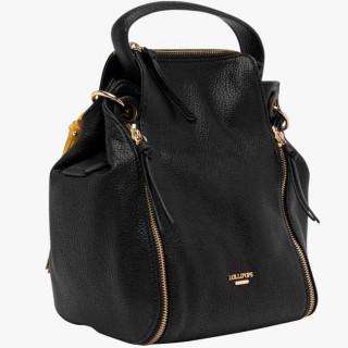 Lollipops Ginza Golden Black Soft Bucket Bag