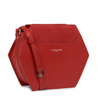 Lancaster Vendôme Hive Crossbody Bag Losange 432-51 Red