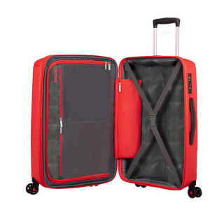 American Tourister Sunside Spinner 77 cm Valise Trolley 4 Roues Sunset Red