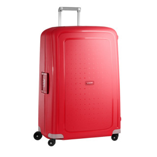 Samsonite S'Cure Spinner 81 cm Trolley Suitecase 4 Wheels Crimson Red