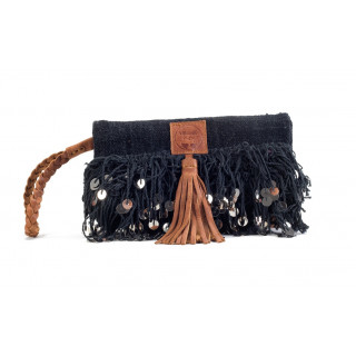 Virginie Darling Pochette Clutch Elena Chic Black Velvet