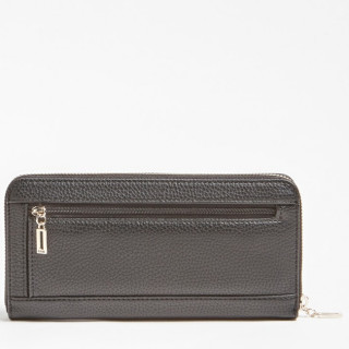 Guess Becca Compagnon Large Zip Around Black