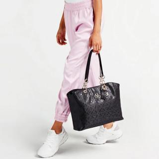 Guess Chic Shine Sac Shopping et Pochette 2 en 1 Black