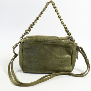 Mila Louise Mama Epi 3 Crossbody Bag Kaki