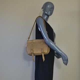 Mila Louise Bess Glitter Crossbody Bag Tobacco
