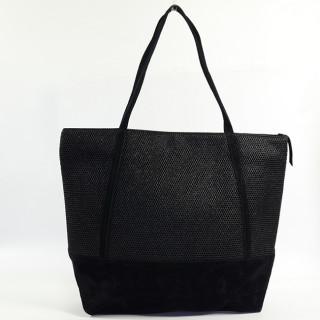 Mila Louise Romy Alveole 2 Black shopping bag