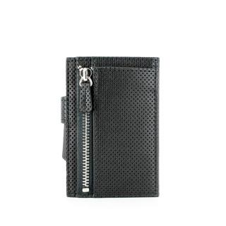 Porte Carte aluminium Ogon Cascade Zipper Black Carbon