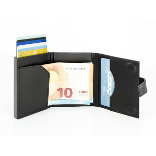 Ogon Cascade Zipper Card Holder Black Carbon