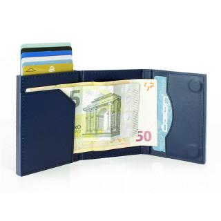 Ogon Leather Card Holder Cascade Wallet Navy Blue