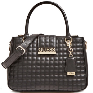 Guess Matrix Sac à Main Surpiqué Noir