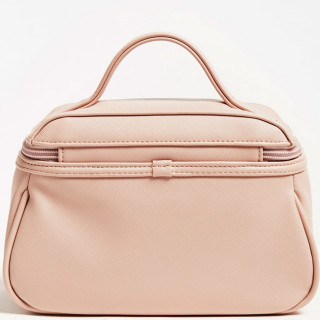 Guess Saffiano Vanity Case Rose Clair