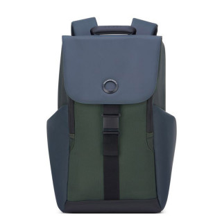 "Delsey Secureflap PC 15.6"" Army Backpack"