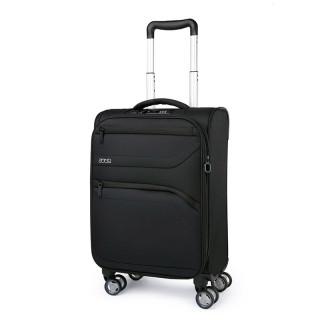 Jump Moorea Soft Suitecase 4 Black Wheels Extendable Cabin