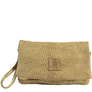 Virginie Darling Pochette Clutch Elena Medium Bubble Or