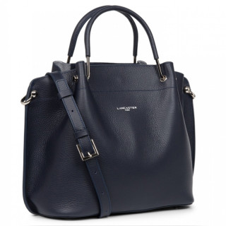 Lancaster Foulonne Double Grand Bag A Main Louisa 470-19 Blue In Silver