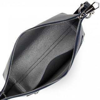 Lancaster Fouled Double Bag Shoulder Bag 470-26 Blue In Silver