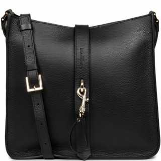 Lancaster Foulonne Double Grand Crossbody Bag 470-34 Black In Nude