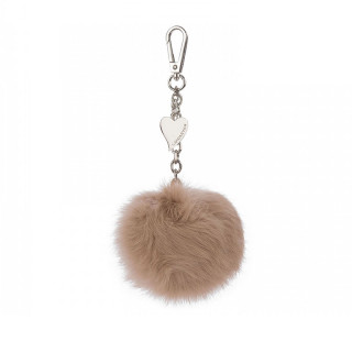 Lancaster Bijou bags Pompon Ball Nude