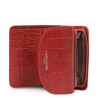 Lancaster Exotic Croco Wallet 124-11 Red