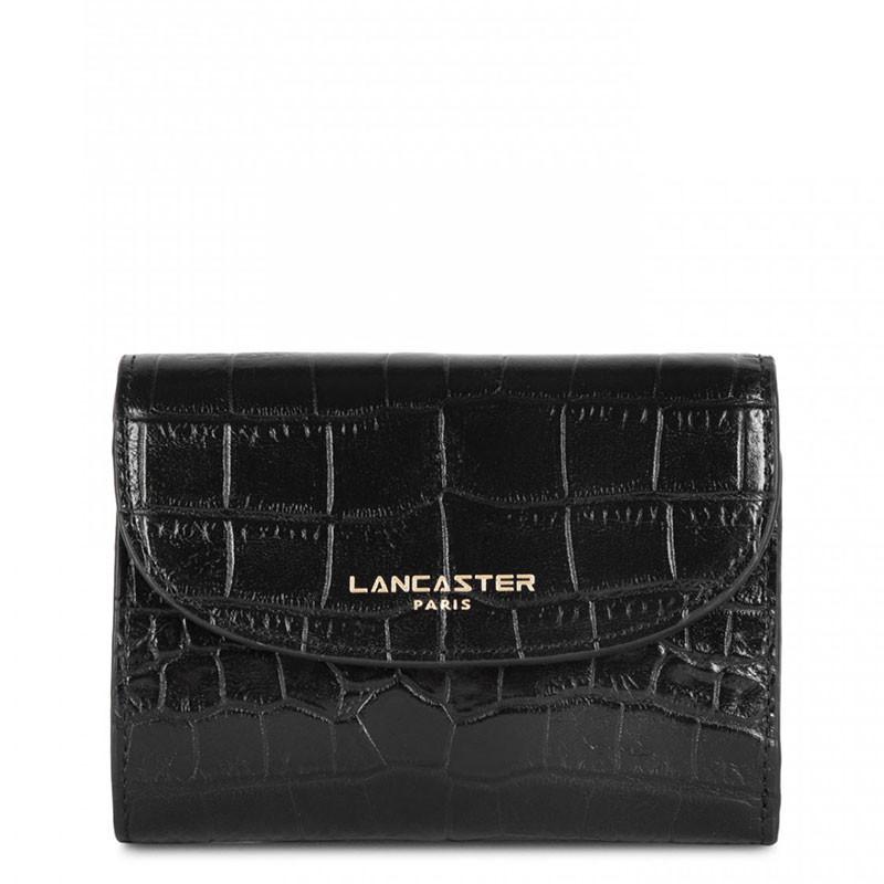 Lancaster Exotic Croco Portefeuille 124-11 Noir