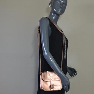 Paul Marius Lessentiel Crossbody Bag Gold Rose Metal