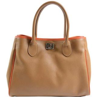 Berthille Ines Handbag Cuero Bi Tricolore