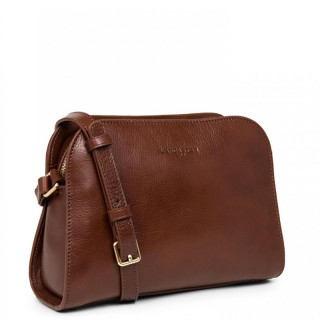 Lancaster Legend Horizon Small Crossbody Bag 571-41 Cognac