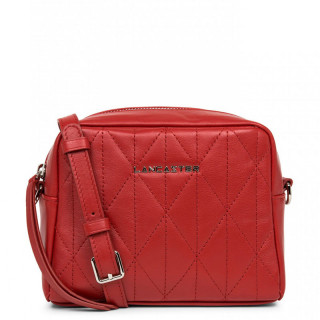 Lancaster Parisienne Matelassé Crossbody Bag Zippée 522-88 Red
