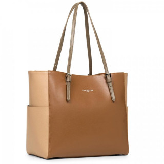 Lancaster Saffiano Intemporel Sac Shopping 421-56 Camel Nude Vison