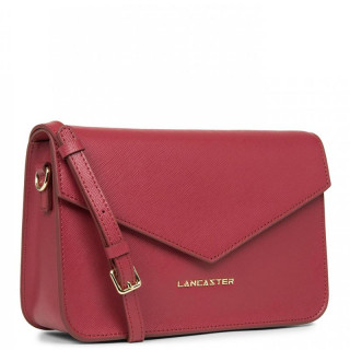 Lancaster Saffiano Signature Crossbody Bag Leather 527-08 Raspberry