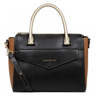 Lancaster Saffiano Signature Handbag A Main Leather 527-25 Black Camel Champagne