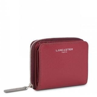 Lancaster Saffiano Intemporel Portefeuille 121-28 Framboise Bodeaux Gris