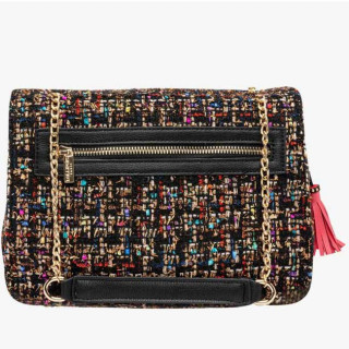 Lollipops Gossip Grand Sac Bandoulière Tweed Multi doré