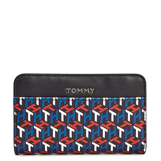 Tommy Hilfiger Iconic Portefeuille à Monogramme Noir Arizona Red