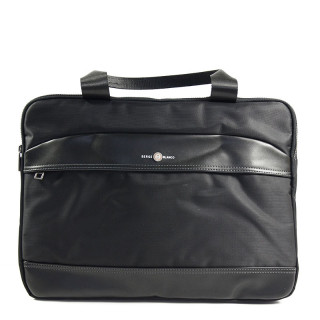 "Serge Blanco Calgary Bag Computer 14"" Compact 2 Black Compartments"