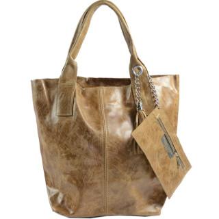 Farfouillette Taupe Leather Cabas Bag