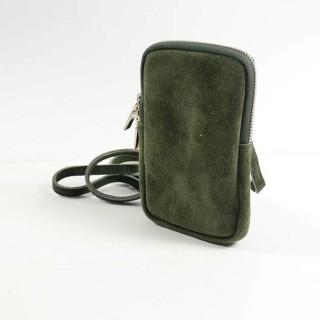 Farfouillette Small Kaki Leather Camera Bag