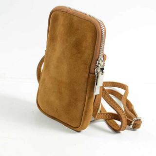 Farfouillette Small Camel Leather Camera Bag