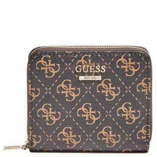 Guess Camy Logo Portefeuille Compact Brown Multi