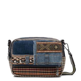 Desigual Chelsea Mini Patchwork Jeans Claro Shoulder Bag