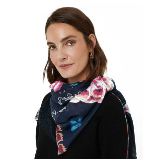 Desigual Foulard Rectangle Double Imprimé Negro
