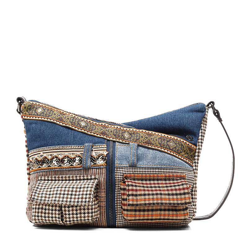 Desigual Harry Sac Porté Épaule Patch Jeans Claro