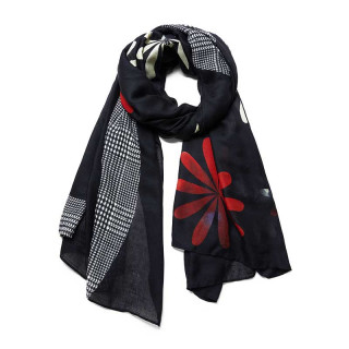 Desigual Love Foulard Rectangulaire Logo Green Grey