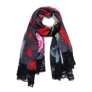 Desigual You Floral Scarf and Antracita Lace